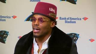 Cam Newton sports a new look