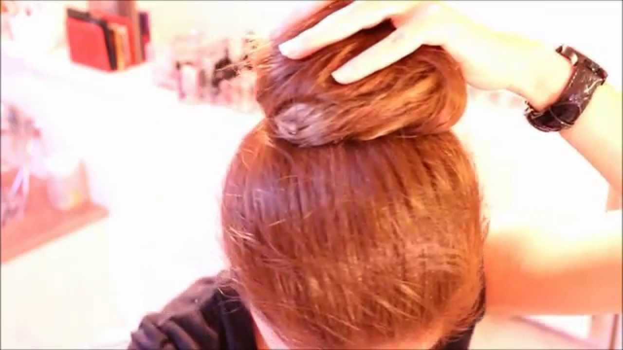Tuto coiffure: Comment faire un chignon super facile sans donut's 4/5 - YouTube