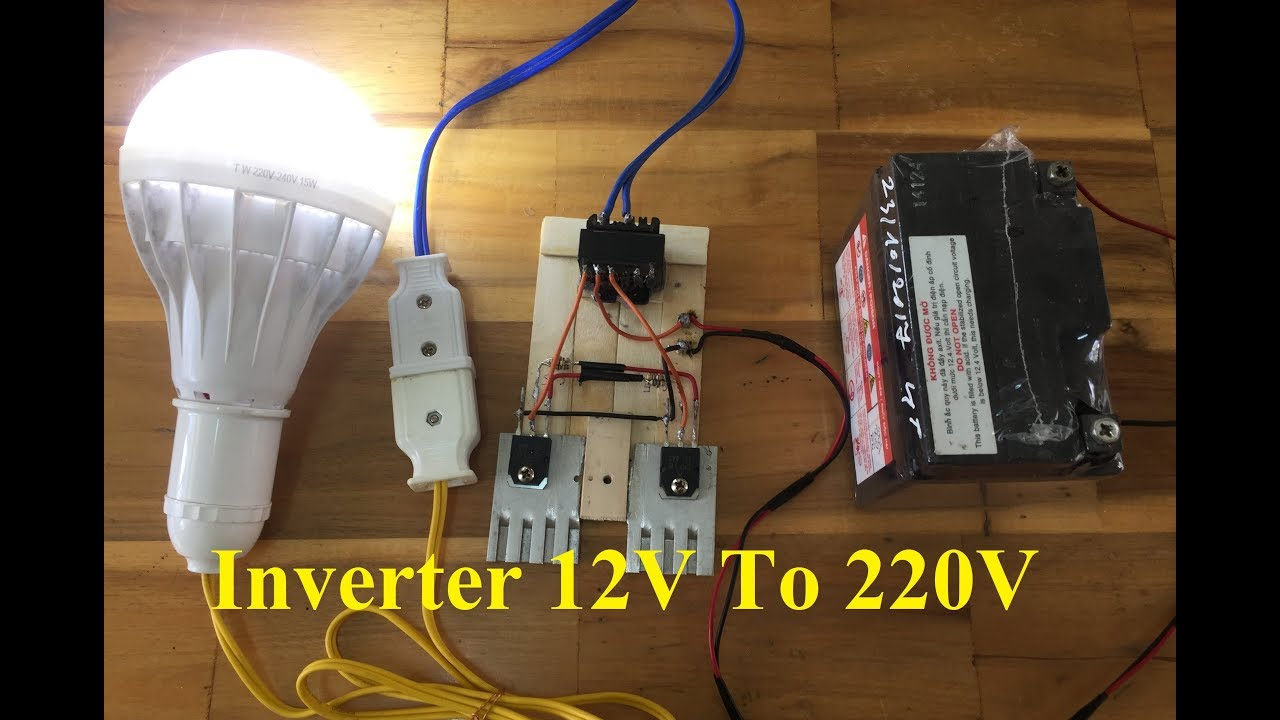 Diy Simple Inverter 12v To 220v At Home How Build A Homemade Power 100 Watt Circuit