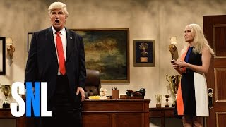 Repeat youtube video Donald Trump Prepares Cold Open - SNL