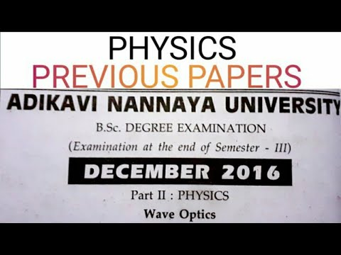 degree-2nd-year-iii-semester-physics-previous-papers- -adikavi-nannaya-university- -model-papers
