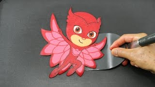 Making PJ Masks Owlette Pancake