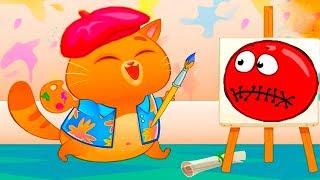 Суровый КОТИК БУБУ #16  Бубу художник  Мультик ИГРА про котят #УШАСТИК KIDS