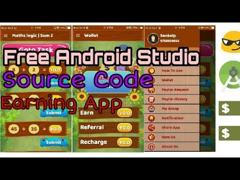 🔥 High Quality Earning App Source Code of Android Studio 🔥 ll Thunkable  ll Appy Builder ll