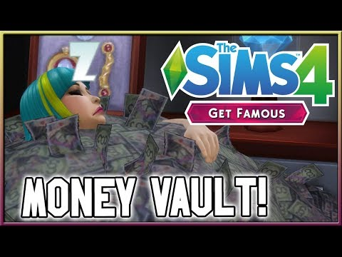 WOOHOO, Store Money & More! ?? | The Sims 4: Get Famous (Vault Overview) thumbnail