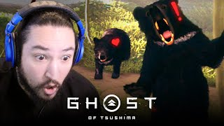 [ 11 ]  BEAR PROTEC. BEAR ATTAC. • GHOST OF TSUSHIMA: HARD DIFFICULTY
