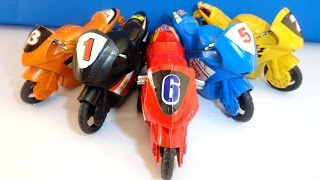 Racing Sports Bikes for kids, COLORS Learning Motorbike vehicle Toys| Fun Sport Bikes Learn Colours