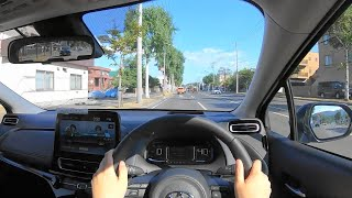【Test Drive】2021 New TOYOTA AQUA(Prius C) 1.5L HYBRID 4WD(E-Four) - POV Drive