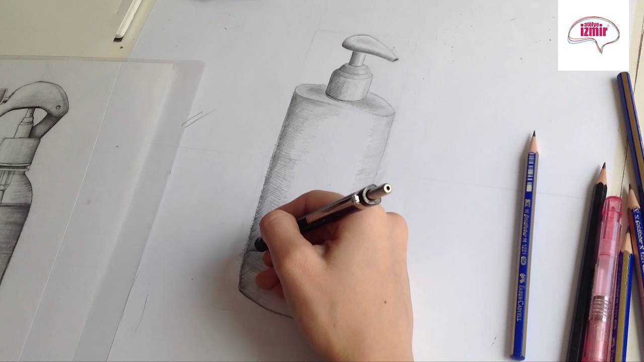 Karakalem Obje çizim çalışması Gölgelendirme Youtube