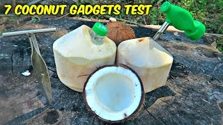 Repeat youtube video 7 Coconut Gadgets put to the Test