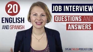 English Job Interview Questions and Answers Examples and Tips Translated into Spanish