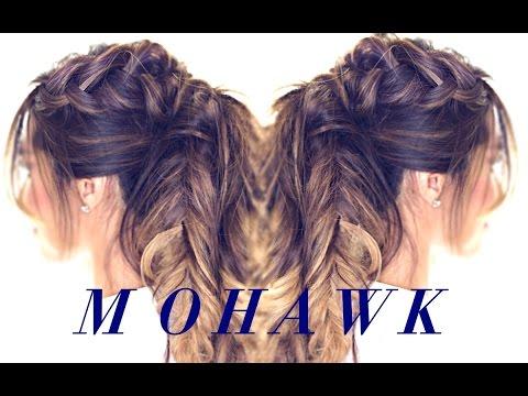 mohawk-pony-braid-hairstyle-👸|-cute-hairstyles-for-medium-long-hair-tutorial