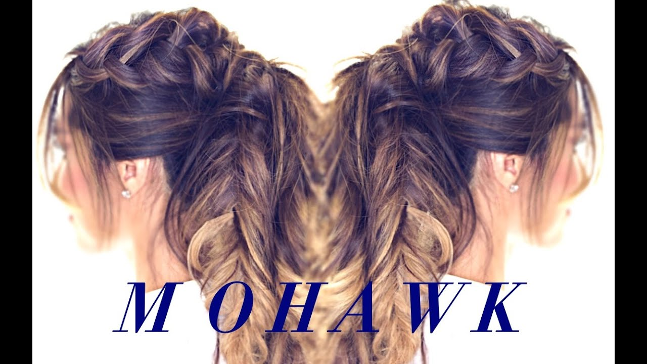 Cute Hair Styles For Medium Hair: Mohawk Pony BRAID Hairstyle 👸