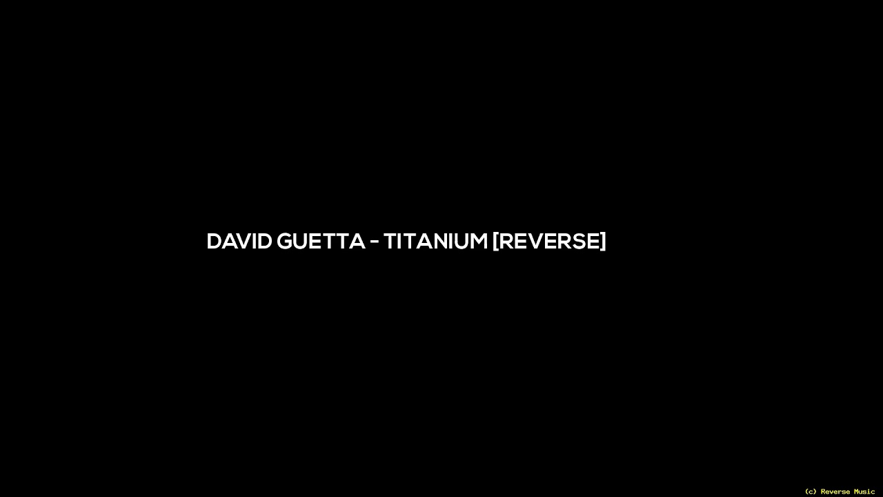 David Guetta ft. Sia - She Wolf (reverse) - YouTube