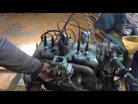 ГАЗ 67 частичное восстановление в оригинал, ремонт двигателя
