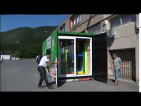 Casa contenedor y parque infantil en contenedor maritimo youtube - Contenedor maritimo casa ...