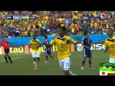 Highlights Japan vs Colombia 1-4 World Cup 2014