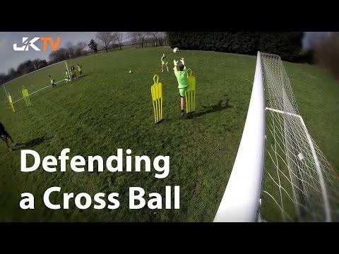 Goalkeeper Training Defending a Cross Ball