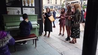 Queen Don't Stop Me Now Piano Cover Stops Girls in the Street! Cole Lam