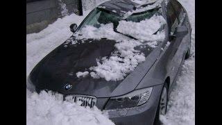 На тачку упал снег!!! Жесть!!!