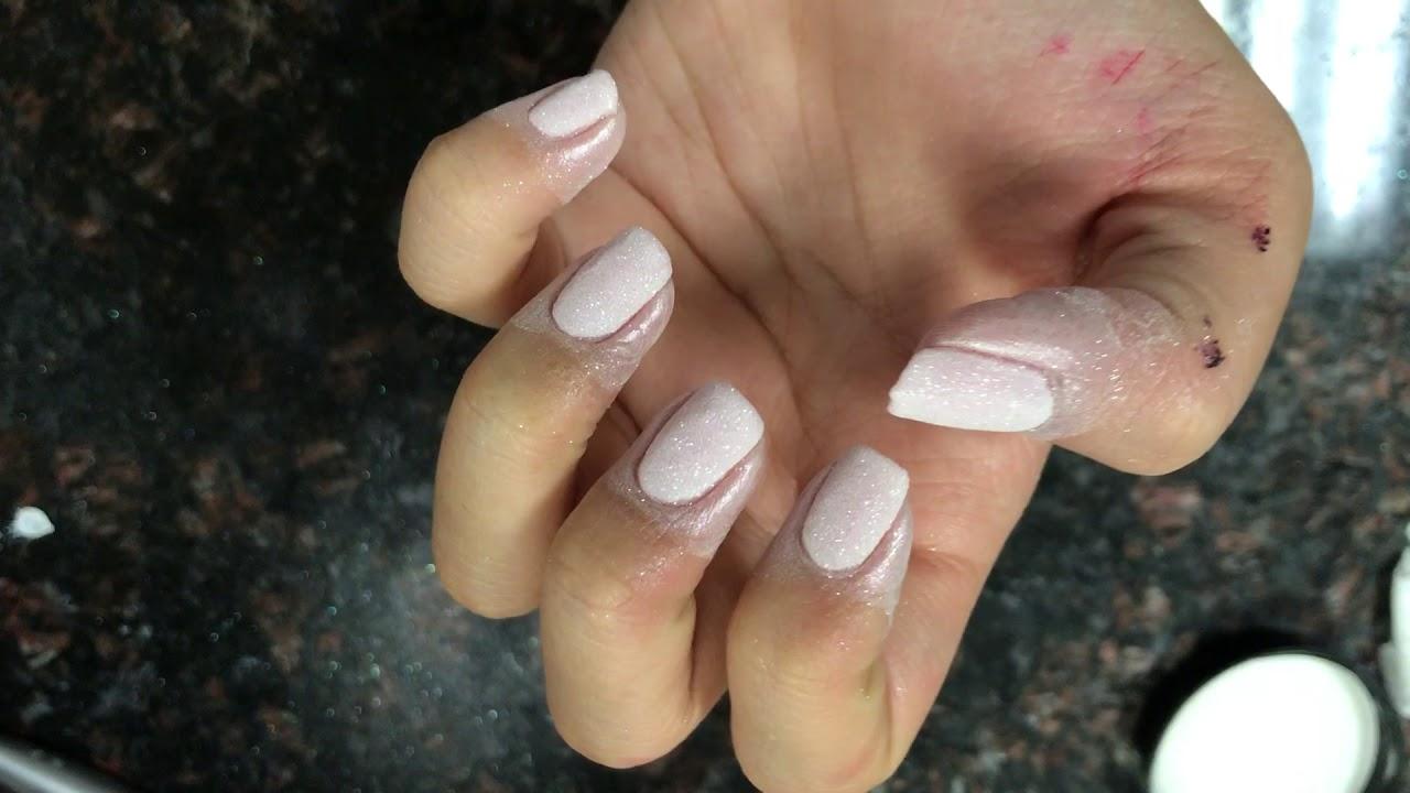 Opi pink powder dipping over natural nail easy and quick no drill ...