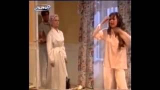 h maria ths geitonias kai to kouneli ( greek parody )