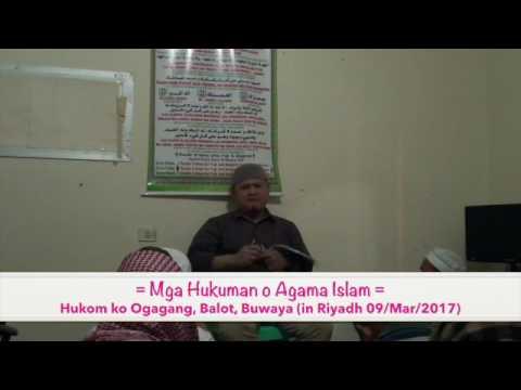 Mga Hukuman o Agama Islam / Hukom ko Ogagang, Balot, Buwaya (By Aleem Amrollah Diambangan)