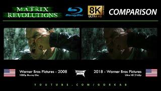 Blu-ray Versus - The Matrix Revolutions (2008 vs 2018) 8K ULTRA HD Comparison
