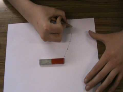 To plot the magnetic field of a bar magnet. - YouTube