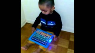 Manav playing Ipad