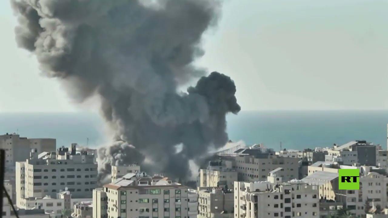غارات جوية إسرائيلية تدمّر بنك الإنتاج الوطني في غزة  - 20:57-2021 / 5 / 14