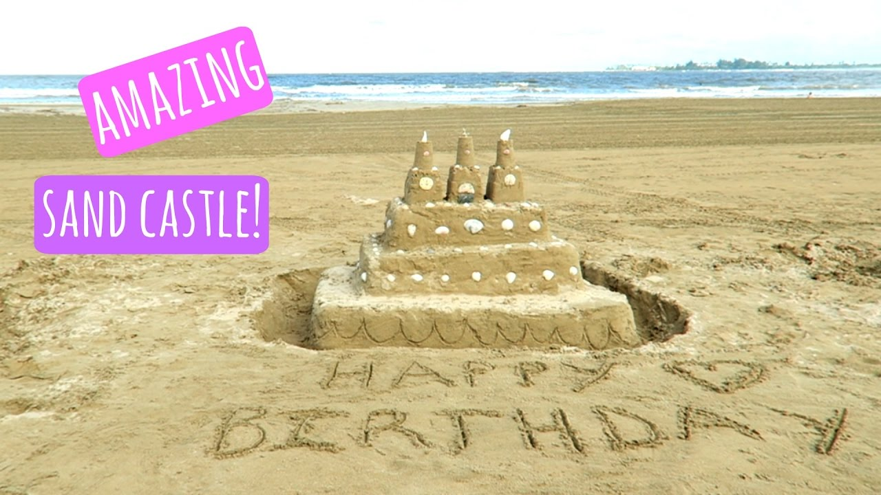 Amazing Birthday Sand Castle Cake Youtube