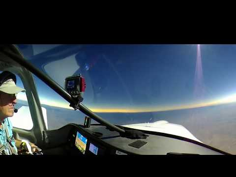 2017 Total Eclipse 360 video – totality from airplane (VR video – click and drag to look around)