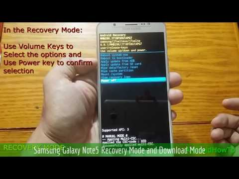 Samsung Galaxy Note5 Recovery Mode And Download Mode
