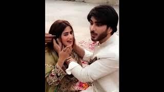 Sajal Ali Imran Abbas Romantic Scene Drama Noor Ul Ain ARY Digital
