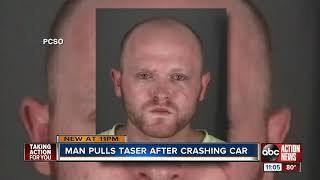 Florida man accused of using Taser to stun driver in road rage incident