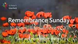 Remembrance Sunday, 8 November 2020