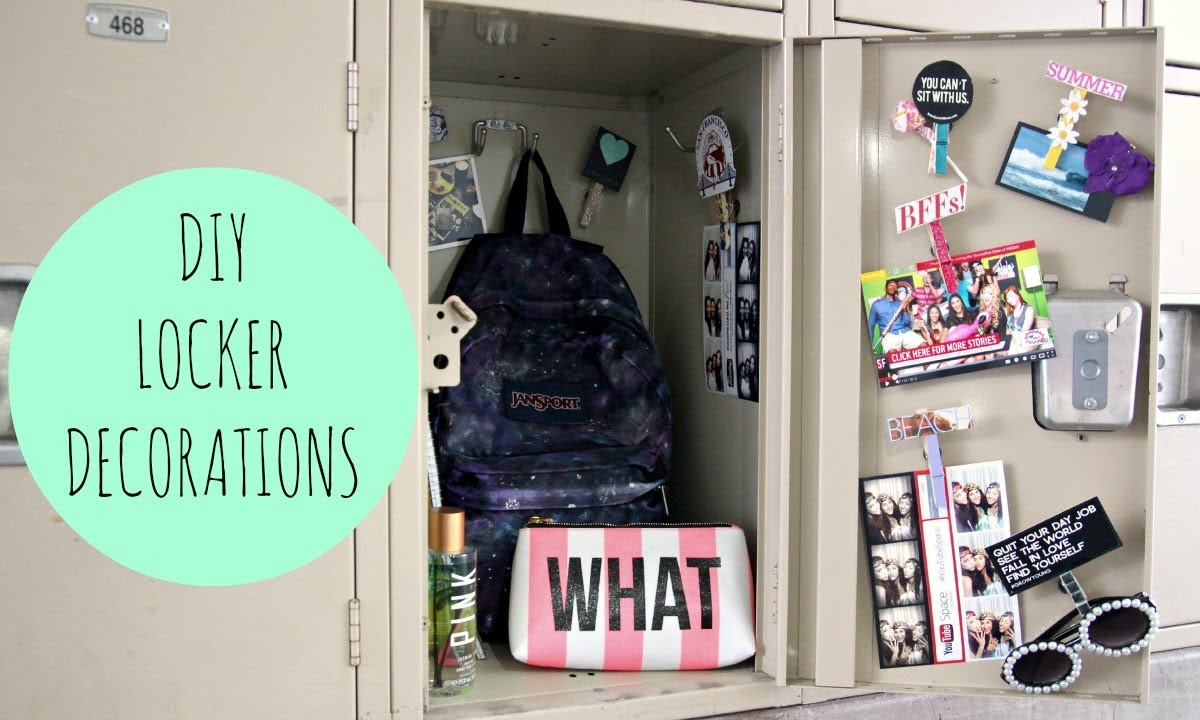 Locker Decoration Ideas Diy Locker Decorations For Back To School  Youtube