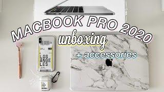 """UNBOXING 13"""" MACBOOK PRO 2020 + accessories!"""