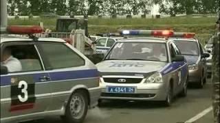 Гонки среди сотрудников ДПС в Красноярске