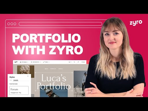 How to Make a Portfolio Website With Zyro   Simple & Easy