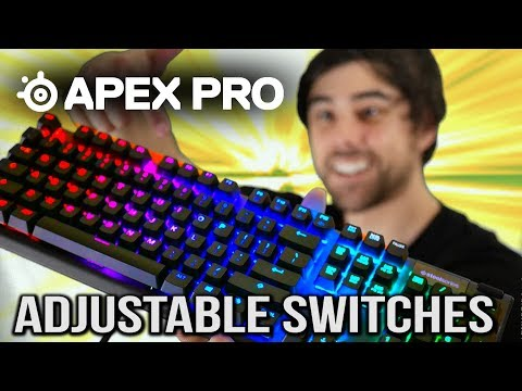 SteelSeries Apex Pro! Adjustable Switches Keyboard Review!