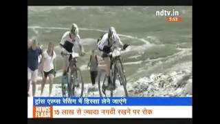 NDTV India coverage on Hero Action team participating in Bike Trans Alp 2016