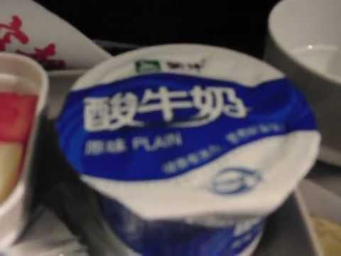 中国国際航空・CA979便の機内食(夕食)