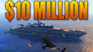 BUYING AND CUSTOMIZING A $10 MILLION SUPER YACHT! (GTA Online DLC)