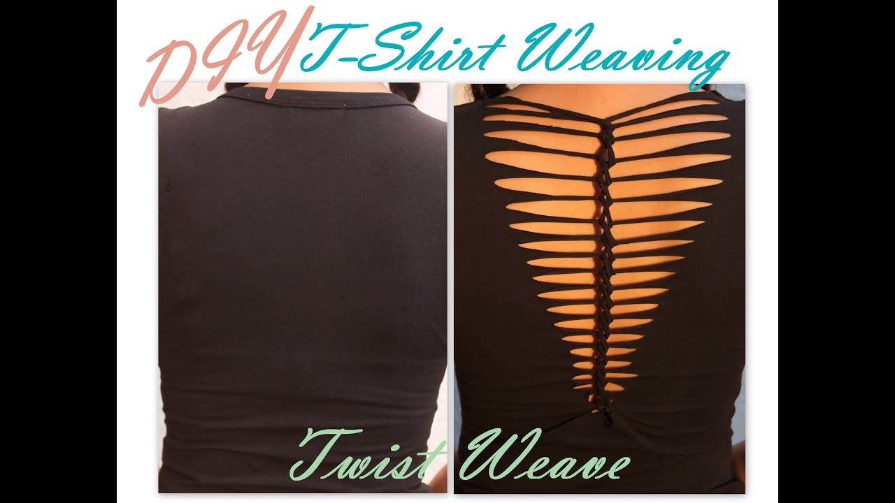 DIY  Shirt Laddering  TWIST Weave  YouTube