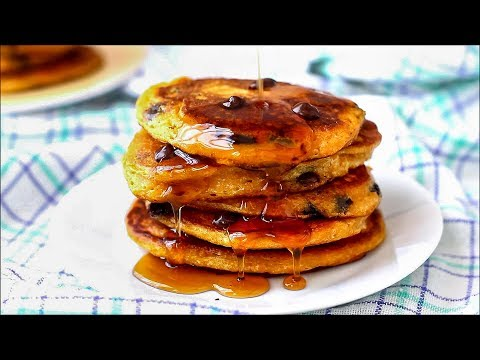 Sweet Potato Pancakes with Chocolate Chips