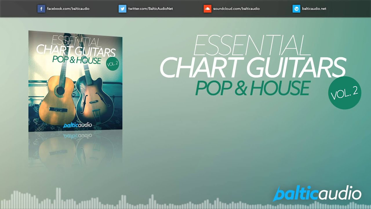 Essential Chart Guitars Vol 2: Pop & House (80+ guitar loops, 25+ MIDI files, 3 Kits)