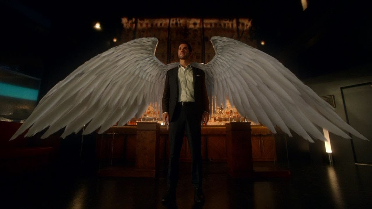 Lucifer All Wings Scenes Youtube