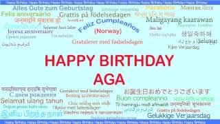 Aga   Languages Idiomas - Happy Birthday